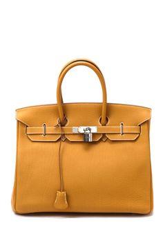 Vintage Hermes Birkin 35 (Square O Silver Hardware) Handbag- I have always wanted a Birkin Bag!