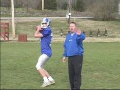 How to Play Quarterback in Youth Football : How to Hold & Throw a Football - YouTube