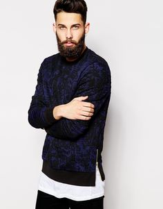 I love the texture and the look of this jumper. It instantly adds more depth to the outfit and the zips on the side are such a cool little detail! Layer this with a white t-shirt and black jeans.