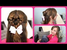 Twist-Braided Heart {5-min video tutorial}  #ValentinesDay #Hearts #Hairstyles