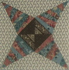 ' Rocky Road to Kansas '  quilt block ||     Barbara Brackman    Civil War Quilt