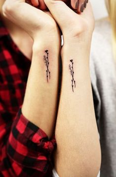 Inspiration and ideas for delicate, minimalist tattoos to get (including matching options with friends or loved ones).