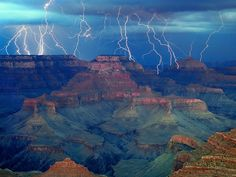 A Stunning Grand Canyon Lightning Storm