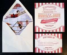Circus Wedding Invitation by Southern Fried Paper