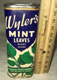 ANTIQUE-WYLERS-MINT-LEAVES-SPICE-TIN-CHICAGO-ILLINOIS-CAN-VINTAGE-COUNTRY-STORE