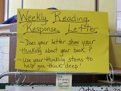 Teaching My Friends!: Weekly Reading Response Letters: Part 1