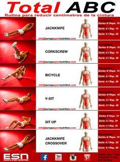 Empezamos el lunes marcando el abdomen y reduciendo centímetros de la cintura  Rutina de abdominales para 1 mes  Recuerda que tus abdominales no se marcarán sino tienes una dieta equilibrada, aunque hagas miles de repeticiones.  No olvides que después de tu entrenamiento es necesario para una recuperación óptima no dejar pasar más de una hora para tomar tu batido de proteínas.