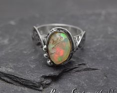 This is my Fantasy Story and my Work by PeagerFantasyWorld on Etsy Opal Rings, Silver Rings, Ethiopian Opal Ring, Soldering Jewelry, Handmade Jewelry, Unique Jewelry, Cocktail Rings, Statement Rings, Fantasy Story