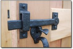 Bronze Gate Double Thumb Latch