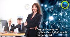 Handwerk in Deutschland: digitales Geschäftsmodell und Digitalisierung der Arbeit im Handwerk.