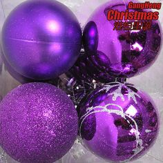 Christmas tree decoration 6cm purple colored drawing powder matt christmas ball 4 20g-inChristmas Decoration Supplies from Home  Garden on Aliexpress.com $11.99