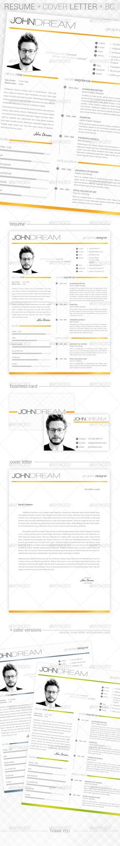 JDream - Resume + Cover Letter + BC - Resumes Stationery