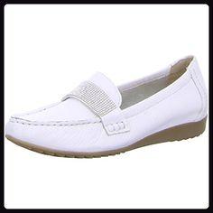 Caprice Schuhproduktion Da.-Slipper Größe 37.5 Weiß (WHITE) - Slipper und mokassins für frauen (*Partner-Link)
