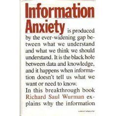 Information Anxiety by Richard Saul Wurman,  $1.74