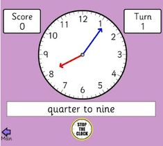 Art Great computer games for teaching TIME... school-math