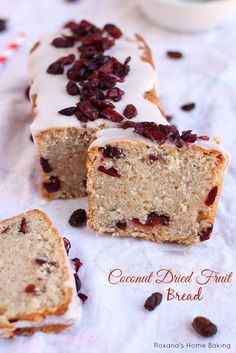 Coconut Dried Fruit Bread Recipe #food #yummy #delicious