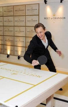Tom and Table Tennis Round Two?  I love how there's more than one photo shoot of Tom playing table tennis.