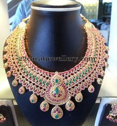 Ruby Emerald Uncuts Tremendous Choker - Jewellery Designs