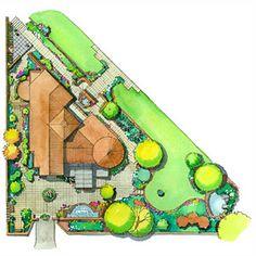 Corner Landscape Plan