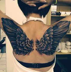wings beauty tattoo