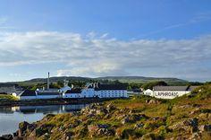 Laphroaig distillery on a June evening, Isle of Islay