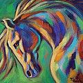 Rainbow Dancer Print by Theresa Paden