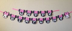 Minnie Mouse Birthday Banner Minnie Mouse by CuddleBuggParties