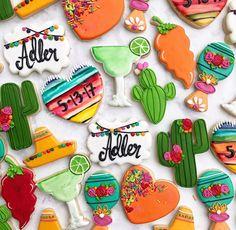 Fiesta Bridal Shower Cookies