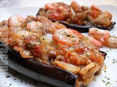 Con sabor a canela: Berenjenas rellenas de bacalao y gambas, con receta para diabeticos