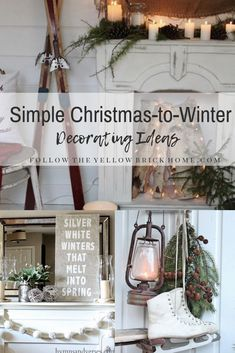 After christmas decorating ideas to transition to winter rustic and natural winter decor Cottage Christmas, Farmhouse Christmas Decor, Christmas Home, Farmhouse Decor, Christmas Design, Rustic Christmas, Modern Farmhouse, Christmas Cards, Rustic Winter Decor