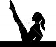 Pix For > Gymnastics Silhouette Beam