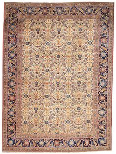 Tabriz carpet  Northwest Persia,  circa 1920  size approximately 9ft. 5in. x 12ft. 11in.