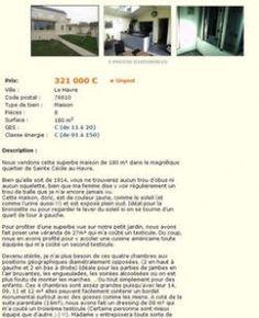 Beaucoup d'humour pour vendre sa maison sur le site de petites annonces français, leboncoin. | WADIMO
