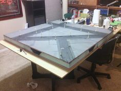 Homemade tabletop gaming table. 48''x48'' for 28mm models.