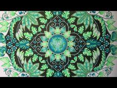 MAGICAL JUNGLE by Johanna Basford - prismacolor pencils - color along - YouTube