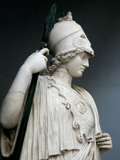 athena lancia e elmo Athena Tattoo, Apollo And Artemis, Types Of Clothing Styles, Roman Gods, Greek And Roman Mythology, Classical Art, Ancient Greece, Ancient History, Sculpture Art
