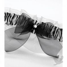 #Zebra Print #Bridal Garter..IF YOU GET MARRIED TO J!!!!