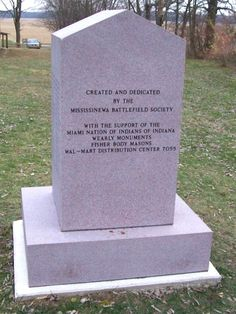 Miami Indians of Indiana | Miami Indian Cemetery Monument