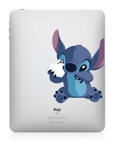 Stitch --iPad Decal iPad Stickers iPad Decals Apple Vinyl Decal for Apple iPad1 / iPad2/ iPad3. $8.99, via Etsy.