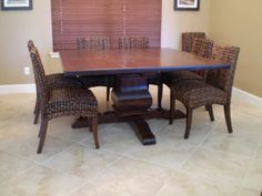 Alder Pedestal Dining Table