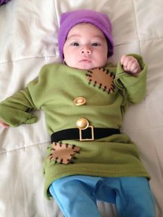 Dopey baby costume diy Halloween snowhite