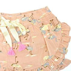 Loulou Flamingo shorts