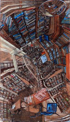 The Disorienting Polyhedral Panoramic Perspective Drawings of Rorik Smith