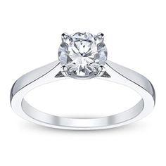 Jeff Cooper 14K White Gold Engagement Ring