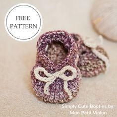 Mon Petit Violon | Free patterns http://monpetitviolon.com/wp-content/uploads/2012/12/Simply-Cute-Booties.pdf