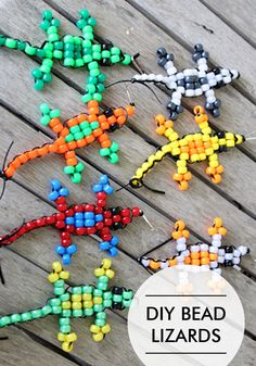 Pony Bead Lizard Tutorial…a fun craft for kids!