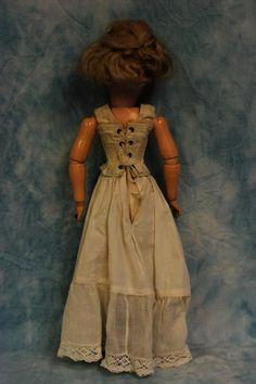 """c1909 20"""" Antique Doll Simon & Halbig #1159 Lady Shapely Body Edwardian Costume"""