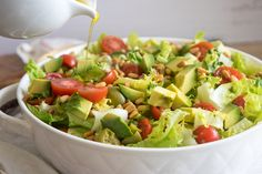 Tomato, Avocado and Escarole Salad
