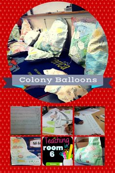 "Colony ""balloons"" to help the students display the research they do on the various colonies in a unique way (could be adapted to any unit of study really)"