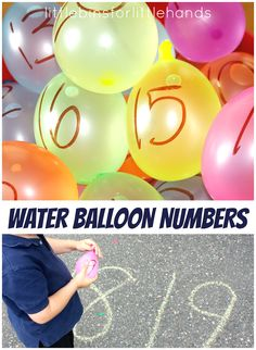 Water Balloon Number Blast Activity for Summer. Early learning math counting activities for toddlers and preschool.